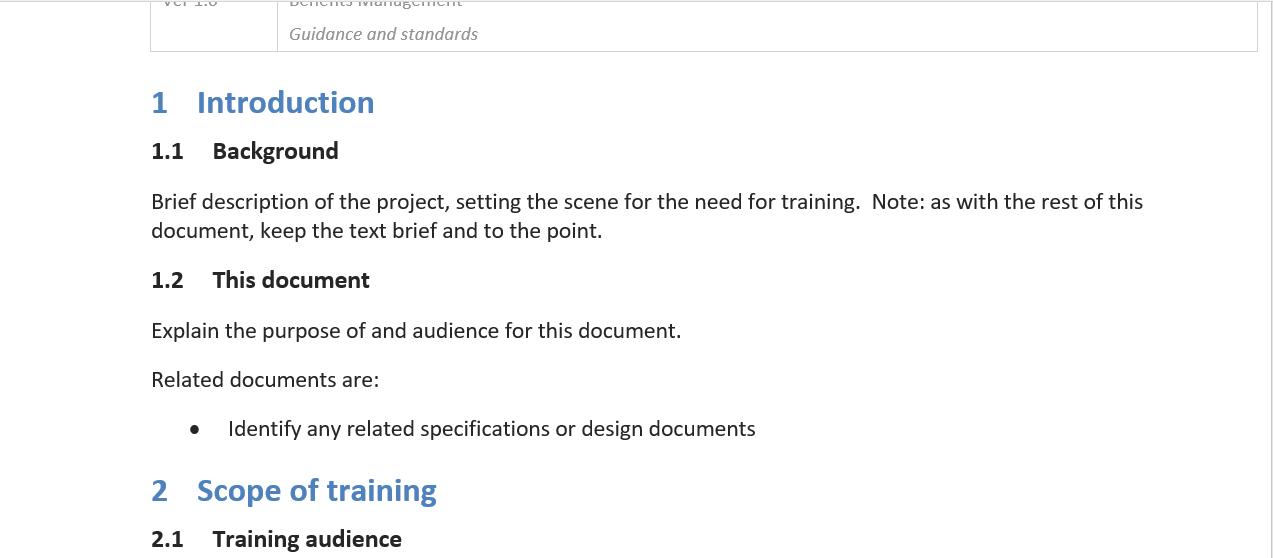 Training Document Template from www.modeloe.com
